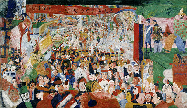 james ensor entry of christ into brussels 18881